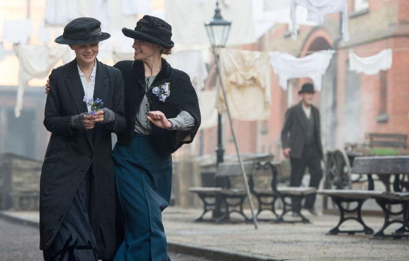 Carey Mulligan and Anne-Marie Duff in Suffragette. Credit: Steffan Hill /