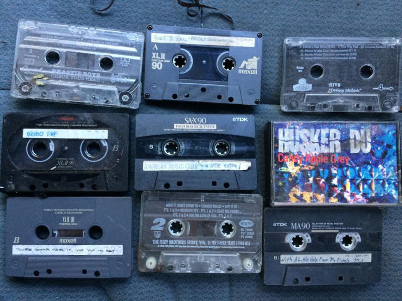 Ten years after selling the car, the tapes survived.