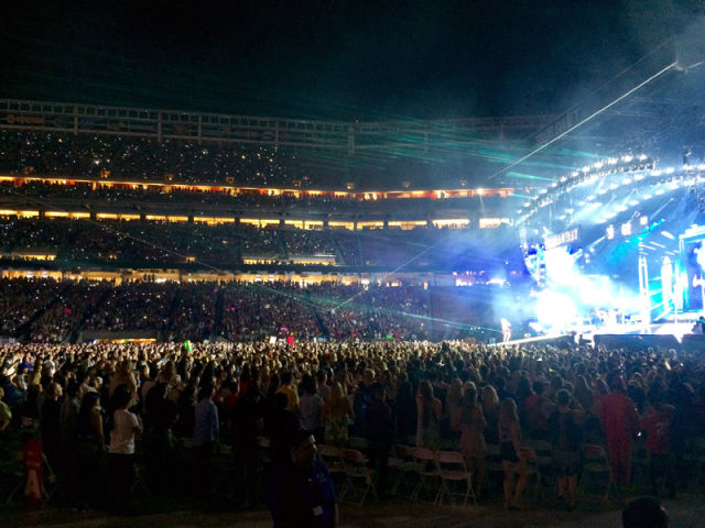 Taylor Swift performs at Levi's Stadium, Aug. 14, 2015. (Photo: Emma Silvers/KQED)