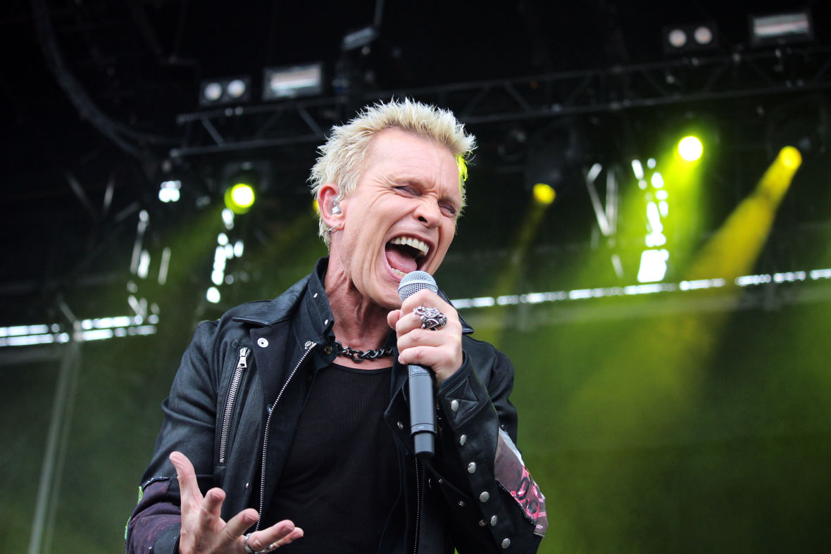 Billy Idol performs at Outside Lands. Photo: Wendy Goodfriend