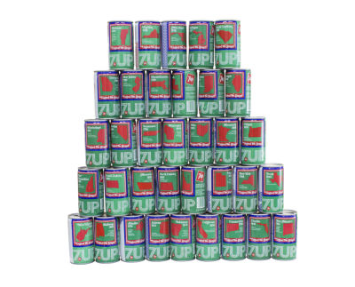 Jenny Odell, 'ITEM 048: bicentennial Seven-Up cans' from 'The Bureau of Suspended Objects.' (Photo by Jenny Odell)
