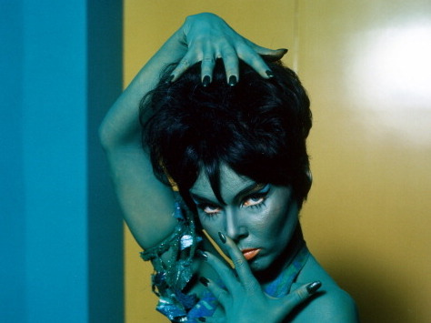 Yvonne Craig appears in a publicity photo for the TV series Star Trek in 1969. She played the role of Orion Marta in the episode titled 'Whom Gods Destroy.'