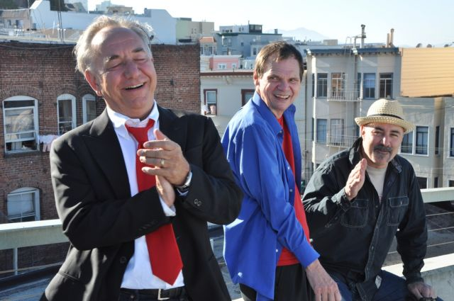 "Will Durst, Larry ""Bubbles"" Brown and Johnny Steele in '3 Still Standing.' (Photo: Beanfield Productions)"