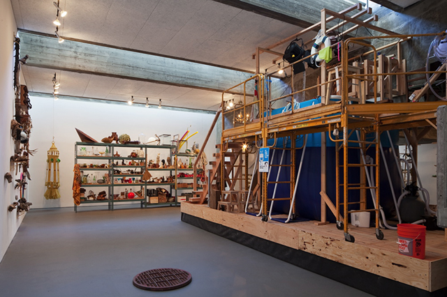 Alejandro Almanza Pereda, 'Everything but the kitchen sank' (installation view during production stage), Walter and McBean Galleries, San Francisco Art Institute, 2015. (Photo: Gregory Goode)