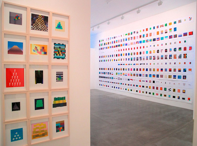 Installation view of 'Chris Ashley & Alan Disparte,' David Cunningham Projects, 2008. (Photo: David Cunningham Projects)