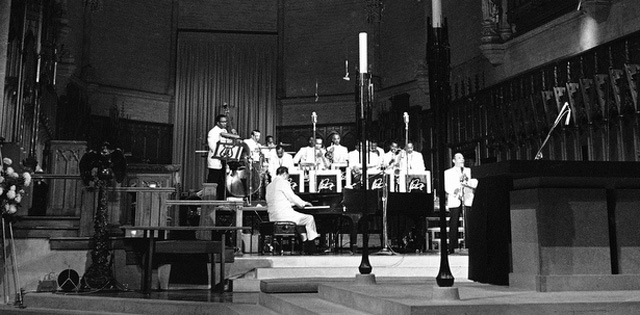 The Duke Ellington band at Grace Cathedral, Sept. 17, 1965. (Photo courtesy Grace Cathedral)