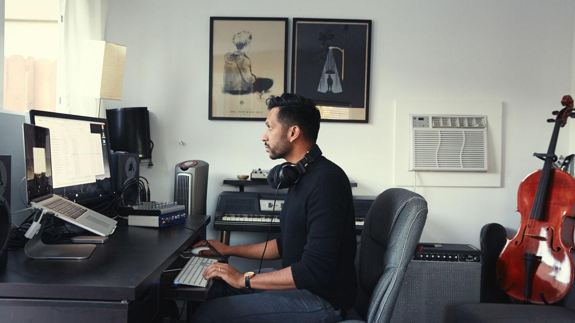 Hrishikesh Hirway hard at work