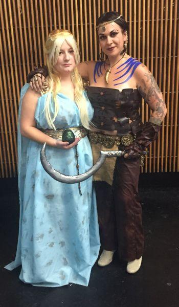 Bonnirose Hunt as Daenerys and Julie Hartley as Khal Drogo