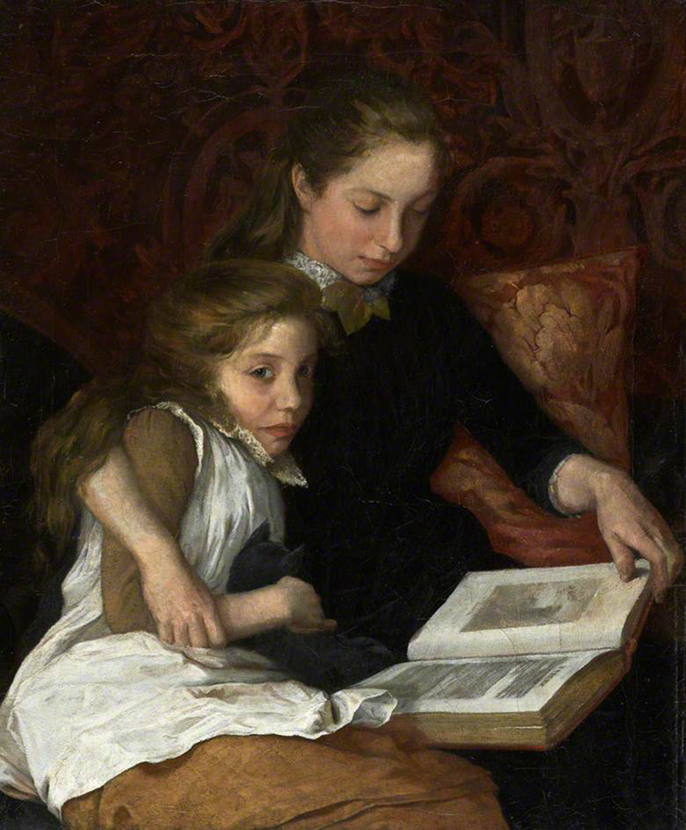 Arthur George Walker, 'Two Girls Reading,' early 20th century. (Photo: Royal Academy of Arts; Supplied by The Public Catalogue Foundation)