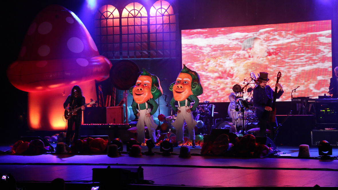Not a nightmare; just a scene with the Oompa Loompas during the second-to-last Primus & the Chocote Factory at the Palace of Fine Arts. Photo: Kevin L. Jones/KQED