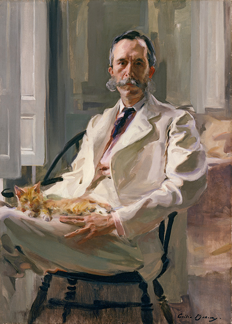 Cecilia Beaux, 'Man with the Cat (Henry Sturgis Drinker),' 1898.