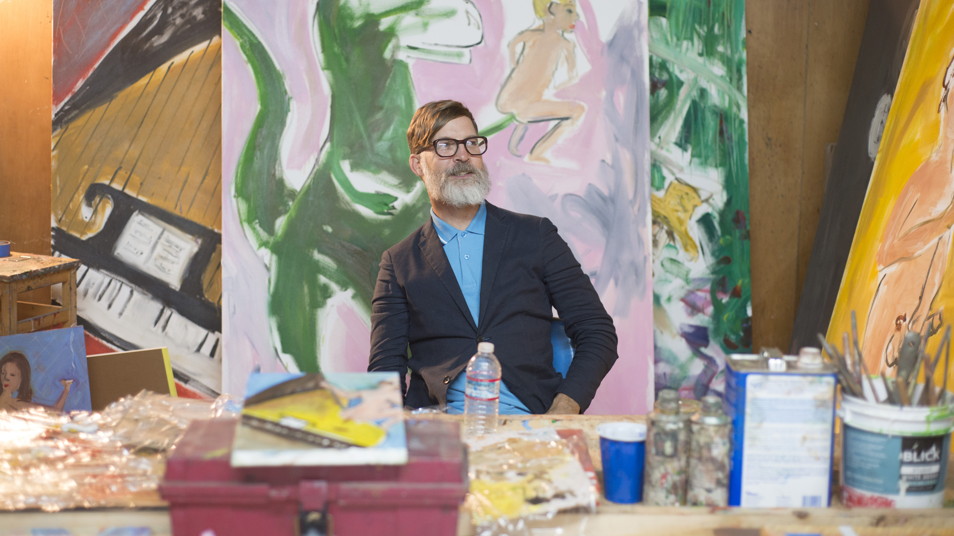 Keith Boadwee in his Oakland studio.