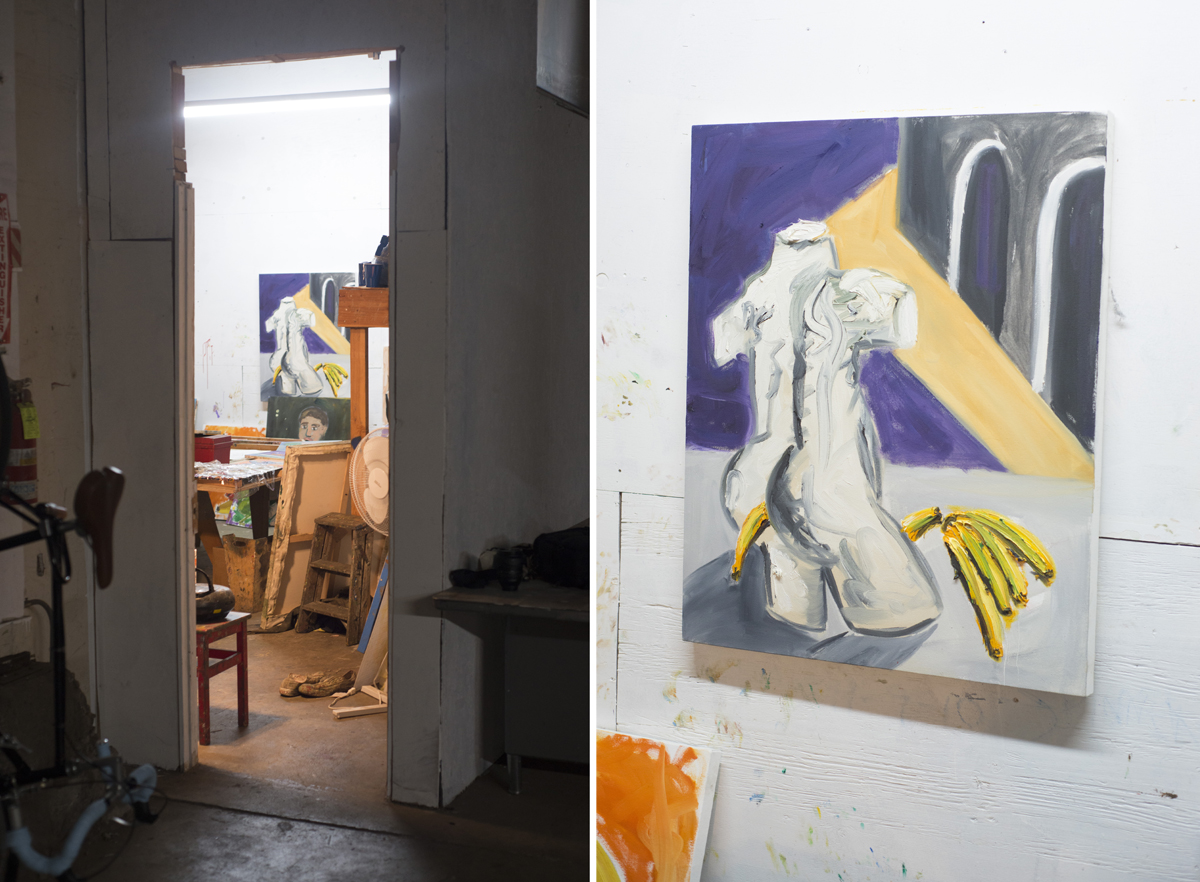 A view into Boadwee's studio and 'After DeChirico.'