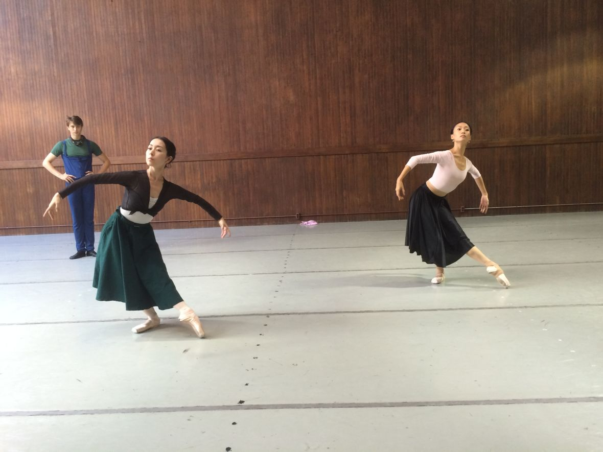 Silicon Valley Ballet company members in rehearsal for 'Giselle.'