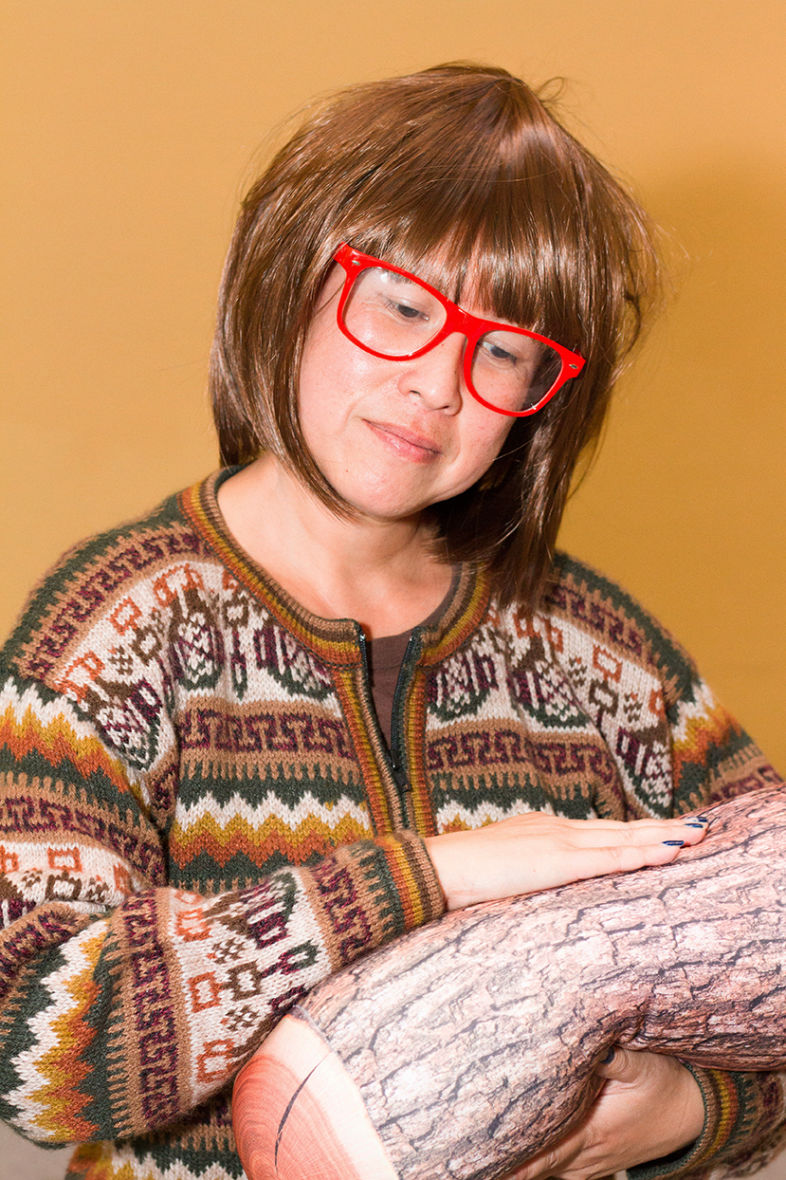 Debbie Jue as the Log Lady from 'Twin Peaks'