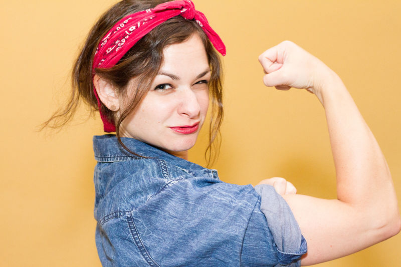 Emma Silvers as Rosie the Riveter