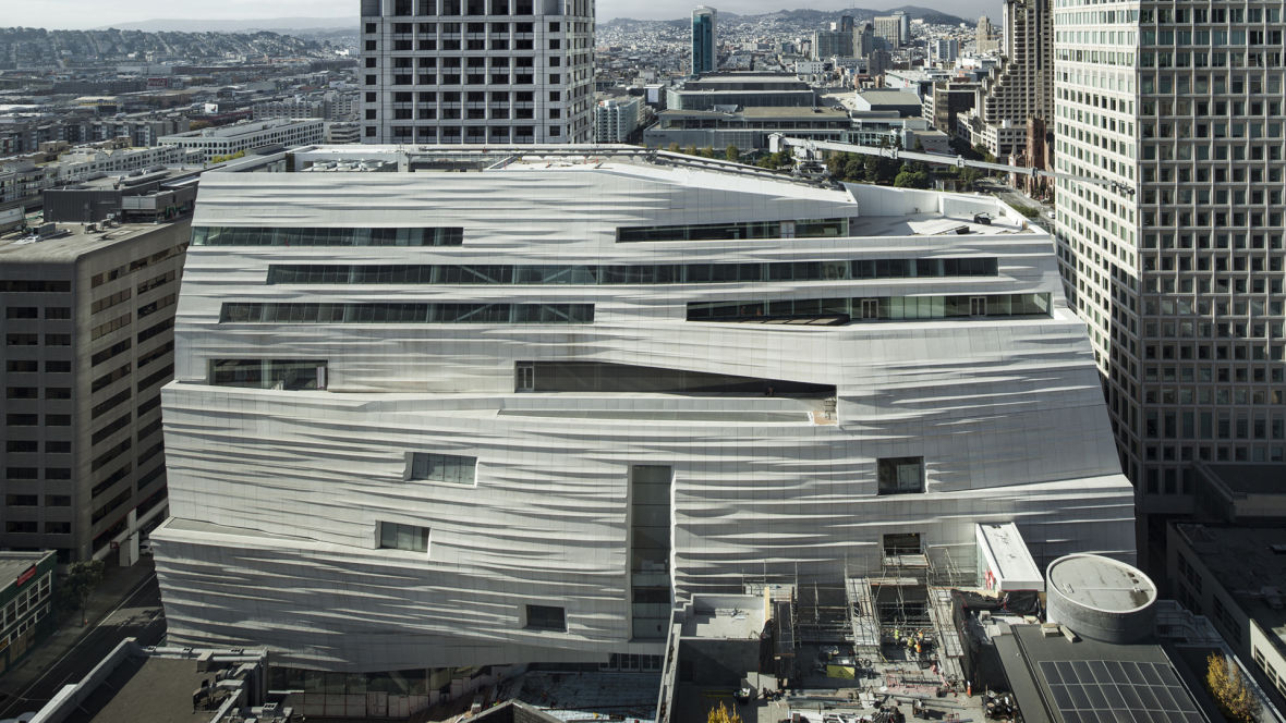 Snøhetta expansion of SFMOMA, opening May 14, 2016.