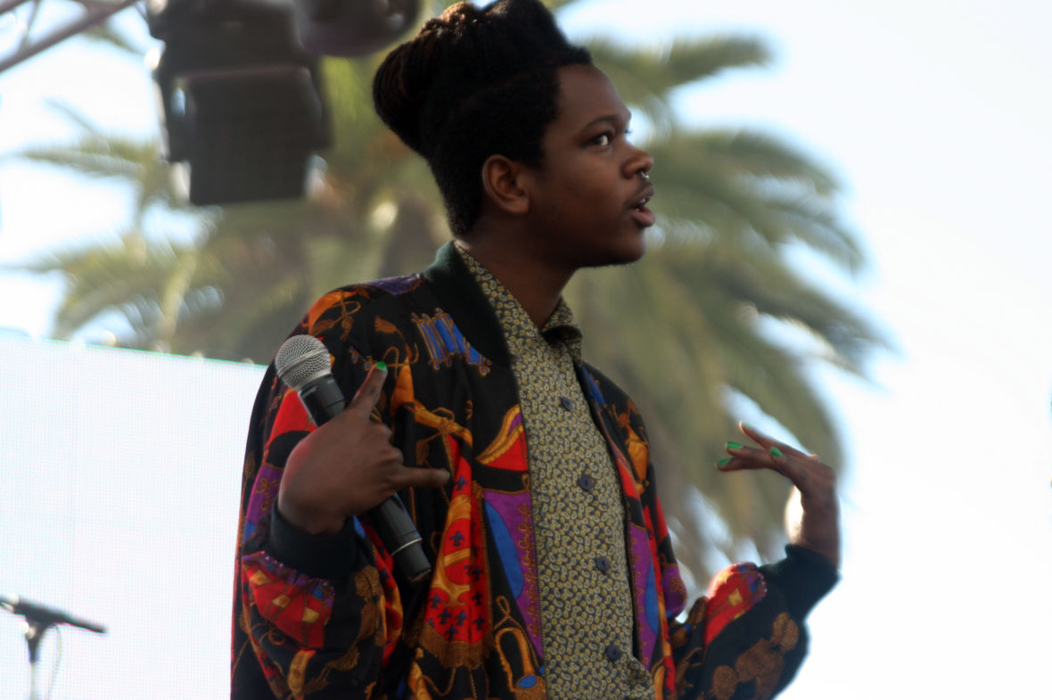 Shamir at the Treasure Island Music Festival. (Photo: Gabe Meline/KQED)