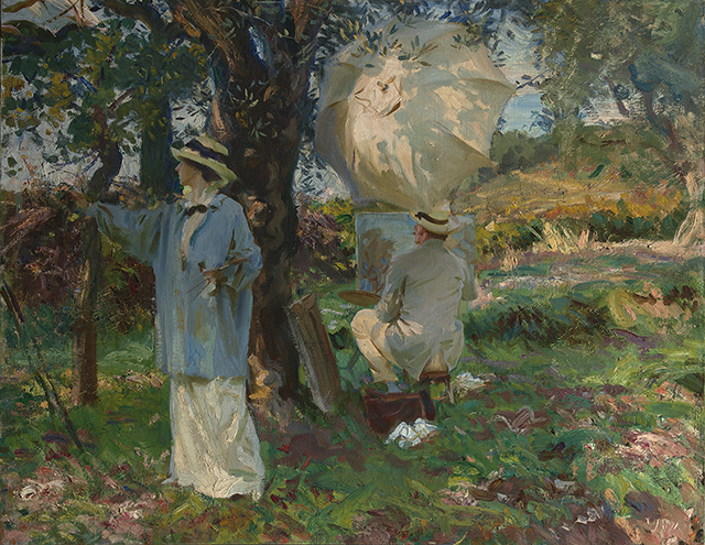 John Singer Sargent, 'The Sketchers,' 1913. Virginia Museum of Fine Arts, Richmond. Arthur and Margaret Glasgow Fund.