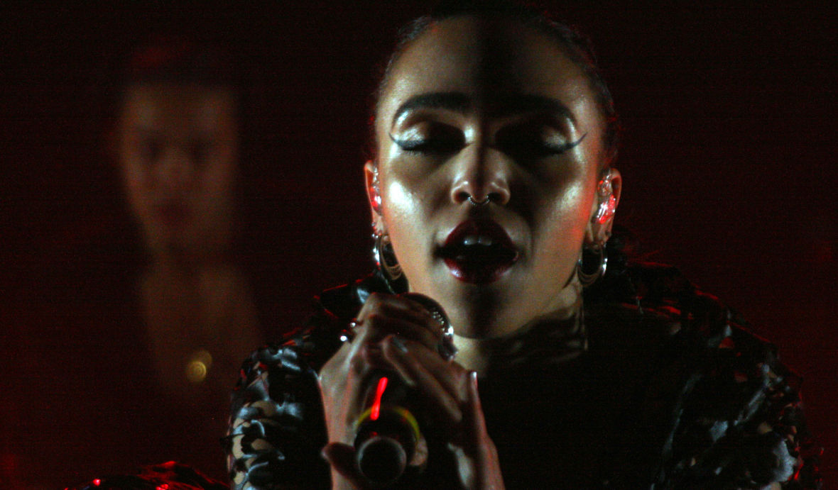 FKA Twigs performs at the Treasure Island Music Festival, Oct. 17, 2015. (Photo: Gabe Meline/KQED)