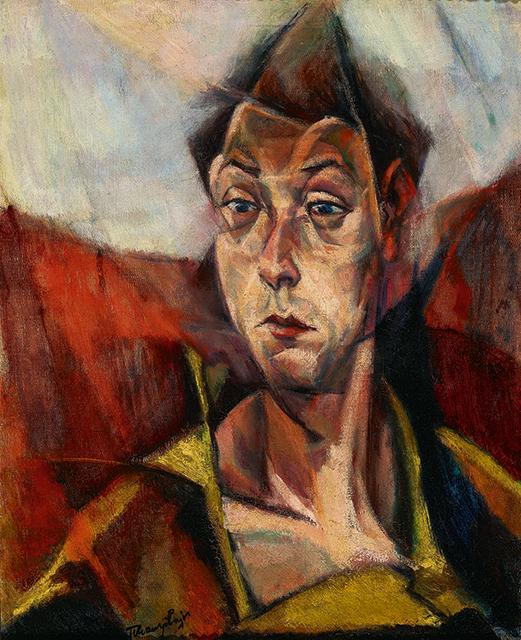 Lajos Tihanyi, 'Self-Portrait (Önarckép),' 1914.