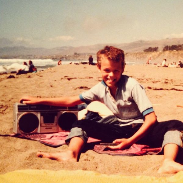 With my favorite boombox, circa 1984.