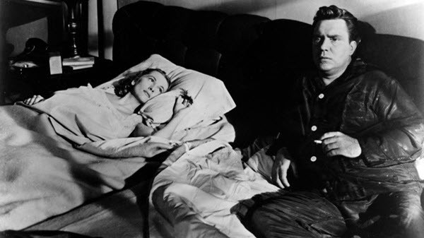 Joan Fontaine and Edmund O'Brien in 'The Bigamist,' directed by Ida Lupino.