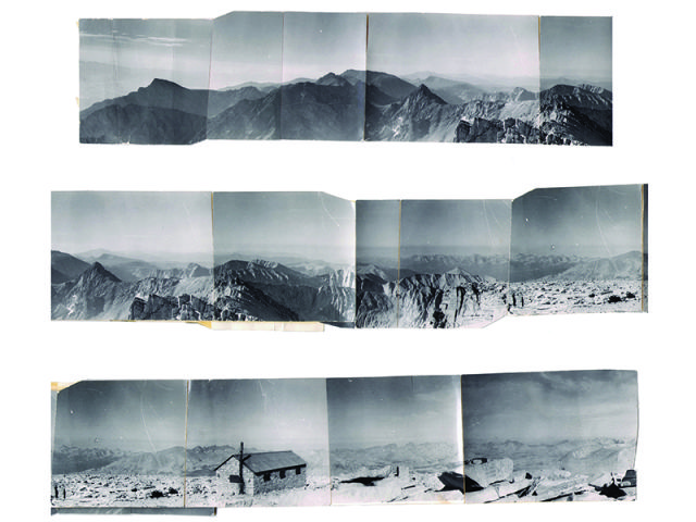 Photographs of Mt. Whitney summit by Chalrie Macquarie's grandfather Charles Woessner.