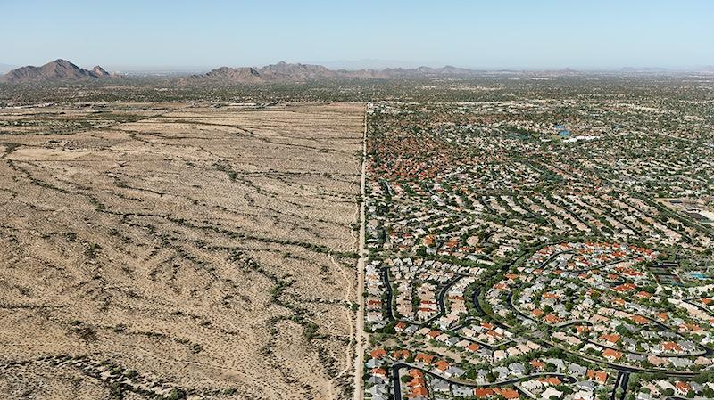 Edward Burtynsky, 'Salt River Pima-Maricopa Indian Reservation / Suburb, Scottsdale, Arizona' (detail), 2011.