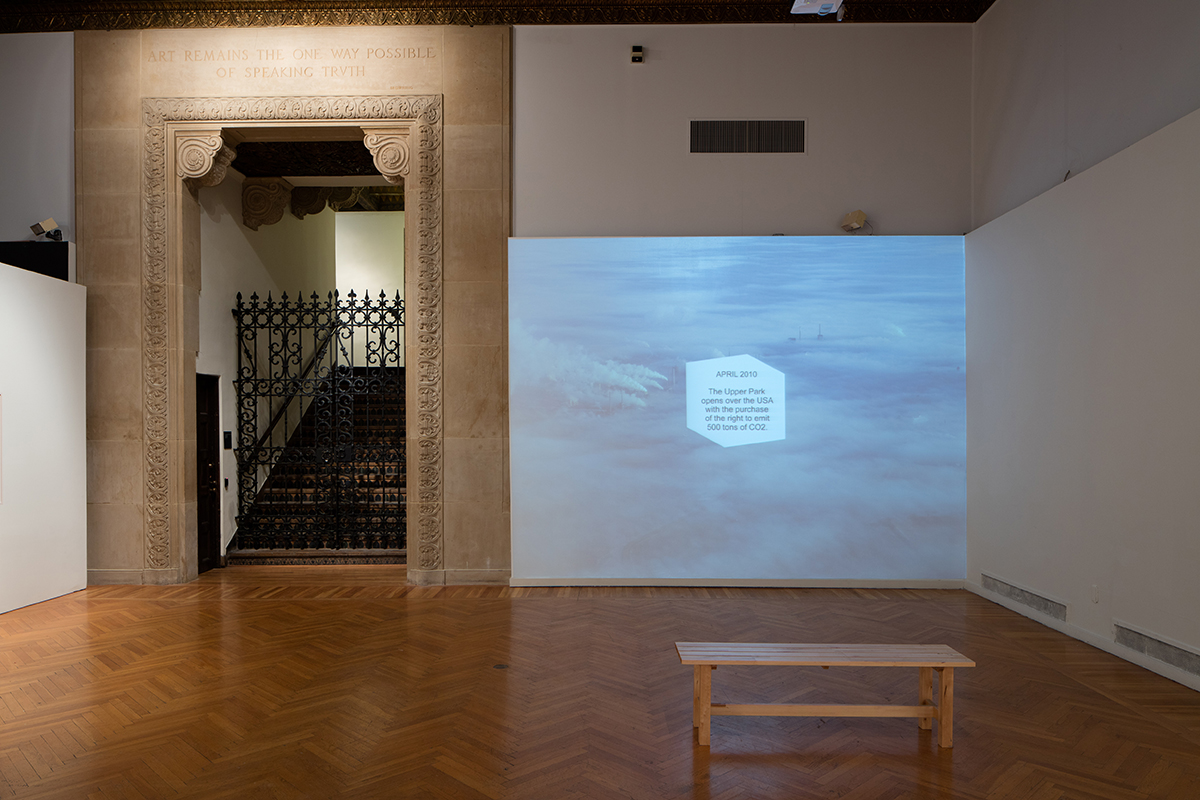 Amy Balkin, Installation view at Mills College Art Museum of 'PUBLIC SMOG,' 2004 – ongoing.