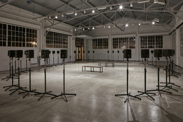 Janet Cardiff, 'The Forty Part Motet' (installation view, Gallery 308, Fort Mason Center for Arts & Culture), 2015.