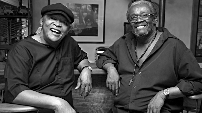 Larry Willis, at right, with longtime collaborator Hugh Masekela. (Courtesy the artist)
