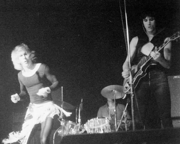Iggy Pop, Scott Asheton and James Williamson playing live