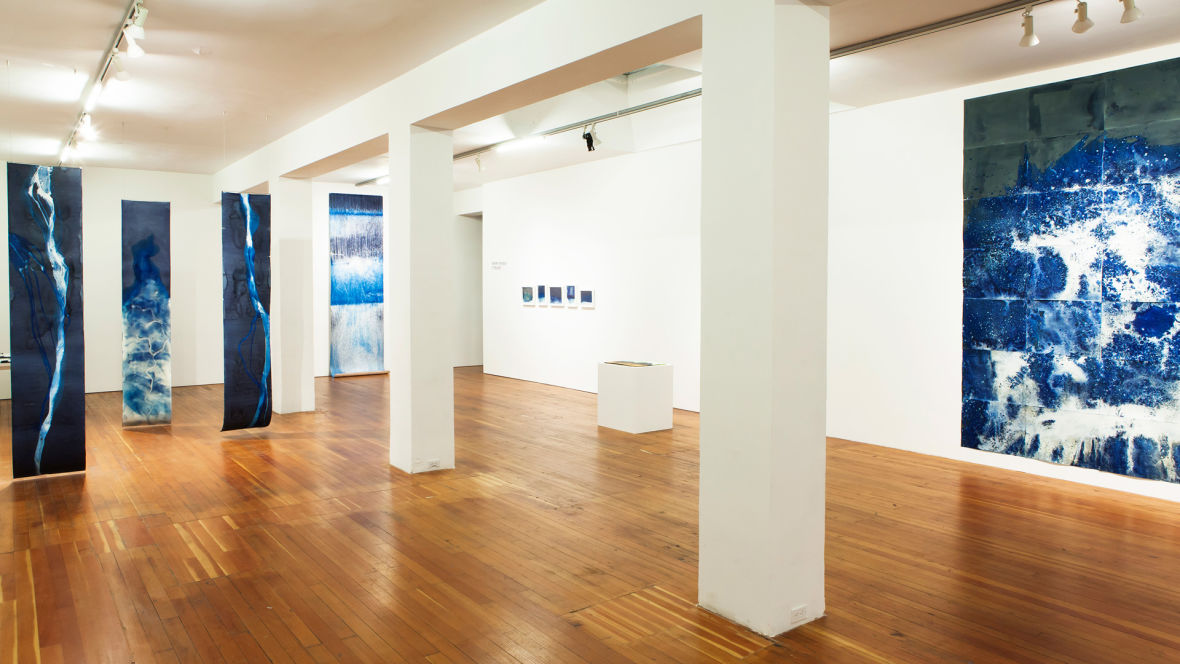 Installation view of 'Meghann Riepenhoff, Littoral Drift,' at SF Camerawork, San Francisco.