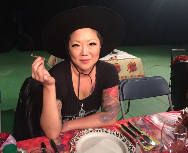 Margaret Cho preparing for her time on Snoop Dog's 4th Annual GGN Thanksgiving Special
