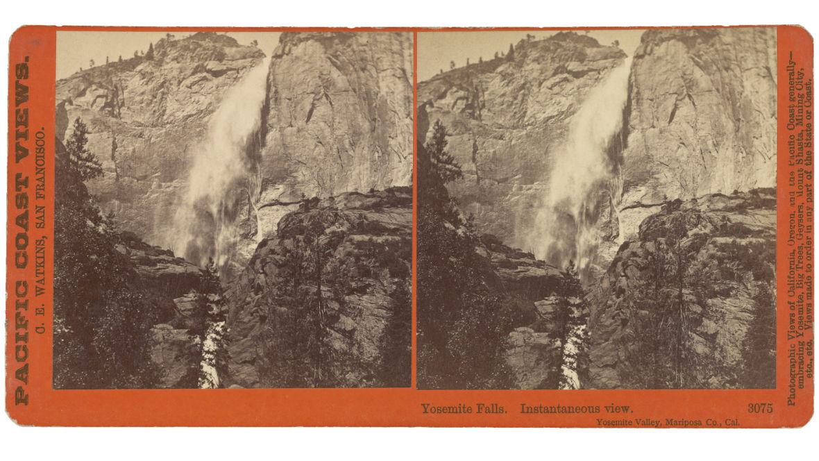 Carleton Watkins, 'Yosemite Falls. Instantaneous view. Yosemite Valley, Mariposa Co., Cal.,' about 1874.
