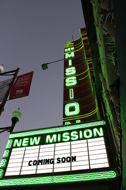 The marquee on Mission Street.