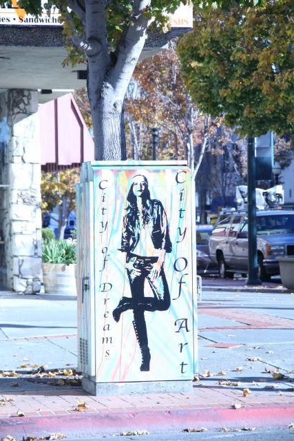 Utility box art in downtown Vallejo.