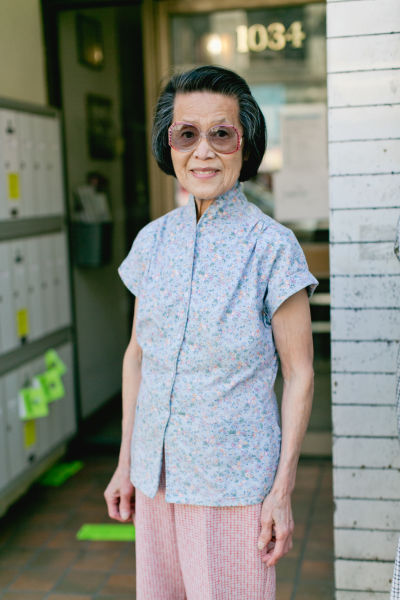 A photo of Joyce Wing from the Chinatown Pretty blog.