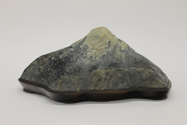 Mas Nakajima, 'Fuji-san,' collected stone and made daiza finished, c. 1995; collected c. 1990 Clear Creek.