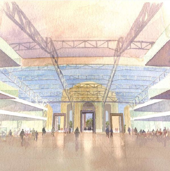 Artist rendering of the redone Palace of Fine Arts, per the Maybeck Center plan