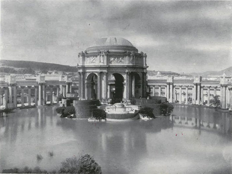 Archival photo of the Palace of Fine Arts