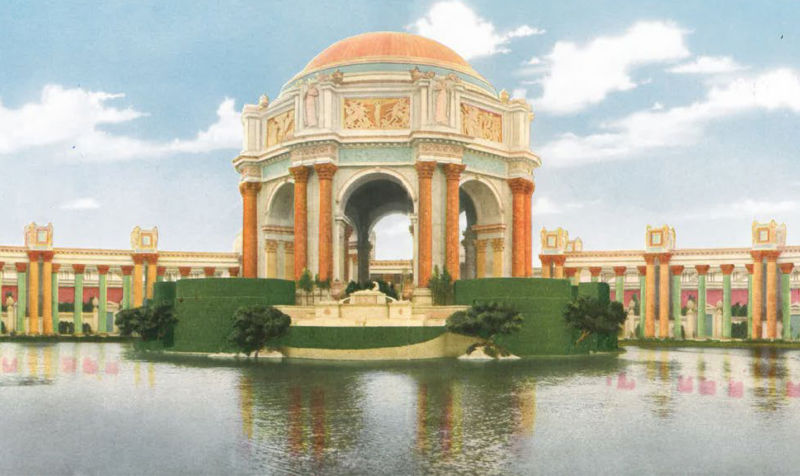 Artist rendering of the Palace of Fine Arts