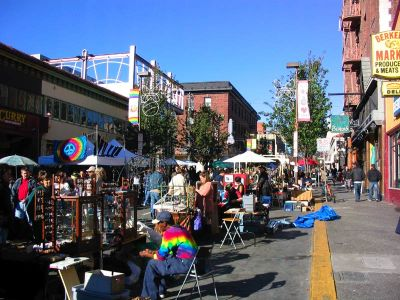 The Telgraph Ave. Holiday Street Fair in all its tie-dye glory.
