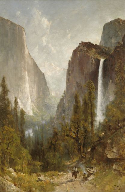 Thomas Hill, 'Bridal Veil Falls, Yosemite Valley,' 1892.