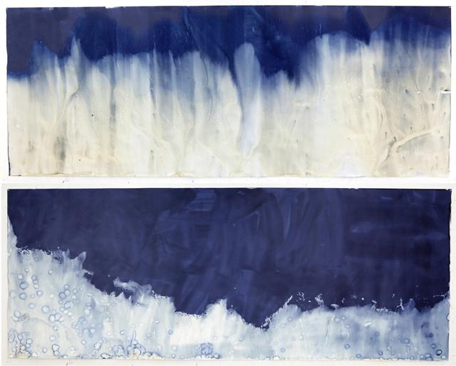 Meghann Riepenhoff, 'Littoral Drift #241' (Recto/Verso, Fay Bainbridge Beach, Bainbridge Island, WA 05.27.2015, Tidal Draw in Tidal Flats,Two Minutes), 2015.