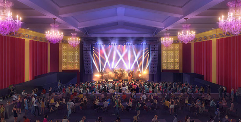 A rendering of the new UC Theatre Taube Family Music Hall.