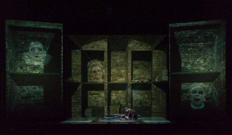 A scene from 'The Fall of the House of Usher' at San Francisco Opera