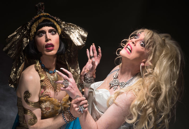 Noah Haydon and Peggy L'Eggs in Thrillpeddlers production of Club Inferno