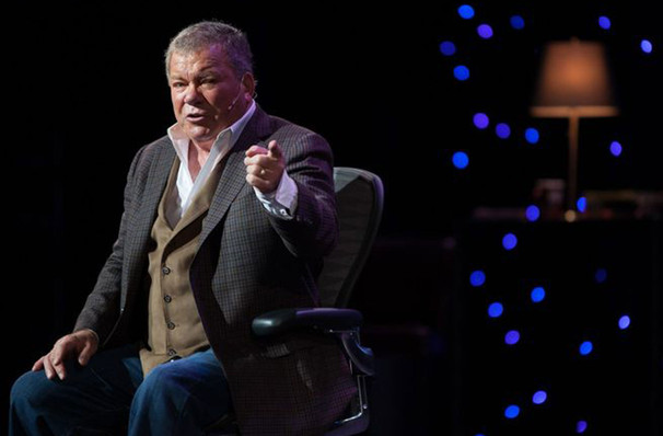 A scene from William Shatner's one-man show, 'Shatner's World.'